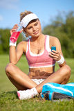 Young attractive fitness woman Stock Image