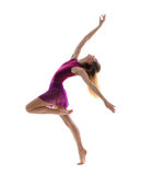 Young attractive flexible female dancer Royalty Free Stock Image