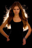 Young attractive girl Stock Images
