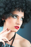 Young attractive girl with  curly haircut. Young attractive girl with afro curly haircut Stock Photos