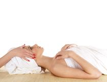 A young and attractive girl getting spa treatment Royalty Free Stock Photos
