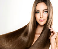 Free Young Attractive Girl-model With Gorgeous, Shiny, Long, Hair. Royalty Free Stock Photography - 96218107