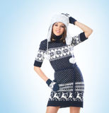 Young attractive girl in native scandinavian clothes Stock Photography