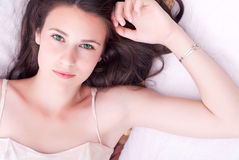 Young attractive girl relaxing Stock Images