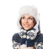 Young attractive girl in Scandinavian clothes Stock Photos