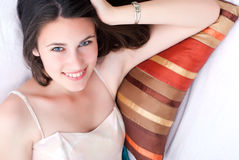 Young attractive girl smiling Royalty Free Stock Photography