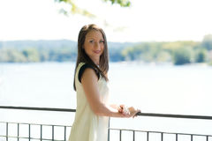 Young attractive girl standing Royalty Free Stock Photo