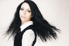 Young attractive gothic girl Royalty Free Stock Images