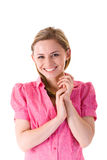 Young attractive and happy businesswoman, isolated Stock Photography