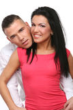 A young and attractive happy couple royalty free stock images