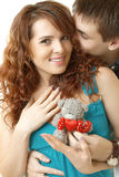 Young attractive happy smiling couple Stock Photos
