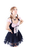 Young attractive housemaid Stock Photography