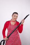 Young attractive housewife Stock Images