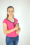 Young attractive lady with a book Stock Photography