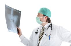 Young attractive male doctor stock image