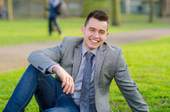 Young attractive male. Outdoor / Park Stock Photos