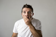 Free Young Attractive Man Astonished Amazed In Shock Surprise Face Expression And Shock Emotion Stock Images - 85942914