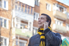 Young attractive man calling by phone Stock Photo