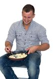 Young Attractive Man Cooking Royalty Free Stock Image
