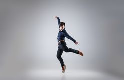 Young attractive man dancing Royalty Free Stock Photos