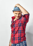 Young attractive man in hat Stock Image