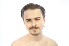 Young attractive man smiling royalty free stock image