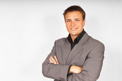 Young attractive man in suit Stock Photo