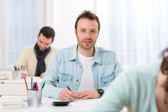 Young attractive man taking exams Stock Image