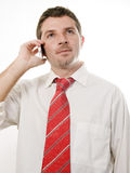 Young Attractive Man talking on the phone Stock Image