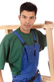 Young attractive Nepalese carpenter Royalty Free Stock Photography