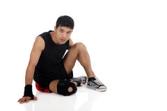 Young  attractive nepalese man athlete Royalty Free Stock Image