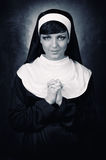 Young attractive nun Stock Photography
