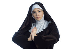 Young attractive nun. Royalty Free Stock Image