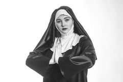 Young attractive nun. Royalty Free Stock Photo