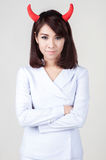 Young attractive nurse girl Royalty Free Stock Photography