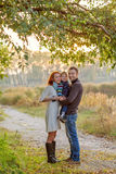 Young Attractive Parents and Child Portrait Royalty Free Stock Photo