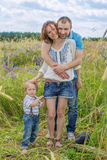 Young Attractive Parents and Child Portrait Royalty Free Stock Photos