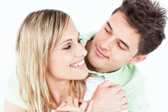 Young attractive people looking each other Royalty Free Stock Photos