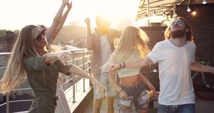 Sunset disco party at terrace