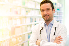 Young Attractive pharmacist at work Royalty Free Stock Image