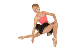 Young attractive redhead ballerina posing Stock Photo