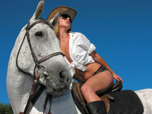 Young attractive rider Royalty Free Stock Photo