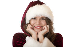 Young attractive Santa Claus Christmas woman Royalty Free Stock Photography
