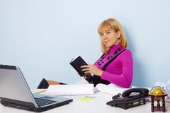 Young attractive secretary Stock Photo