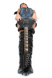 Young attractive sexy girl with rock guitar Royalty Free Stock Photos