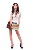 Young attractive sexy schoolgirl Stock Photography