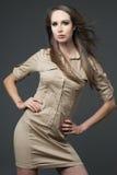 Young attractive slim fashion model. Stock Photo