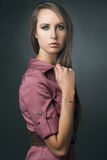 Young attractive slim fashion model. Royalty Free Stock Images