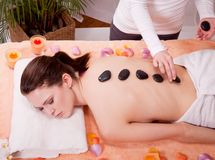 Young attractive smilig woman doing wellness spa Stock Photos