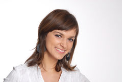 Young attractive smiling woman Stock Photo